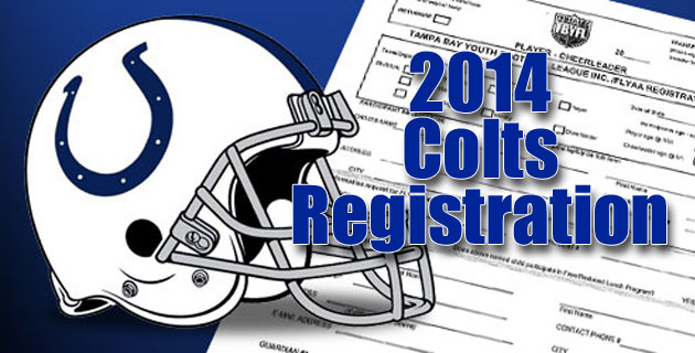 Registration Begins for Colts 2014 Season