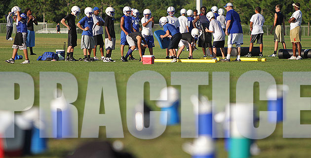 Practice begins Monday, July 28
